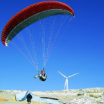 Taking off in paragliding
