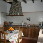 Fully equipped kitchen with oven and all kinds of kitchenware